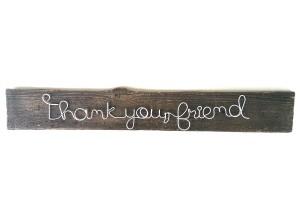 Thank you, friend | lemn vintage, acrilic & sârmă | 45 X 15 cm | pret: 120 lei