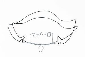 el | fir continuu de sârmă & acrilic | 40 X 30 cm