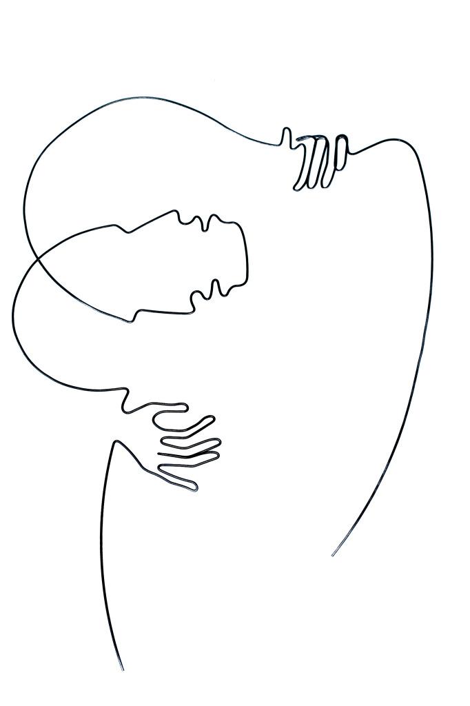 illusion of kiss| 45 X 30 cm