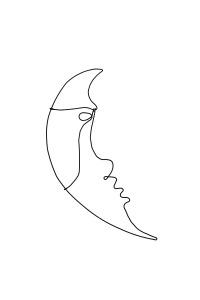 luna | sârmă & acrilic | inaltime 35 cm | pret: 100 © Paula Gecan