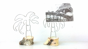 palmieri | suport foto | sarma & lemn de mesteacan | inaltime 18 cm | pret: 50 lei