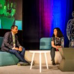Robotul NTT Data pe scena Techsylvania
