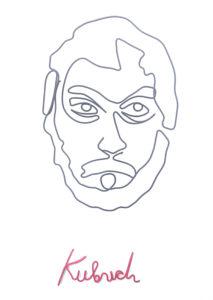 Stanley Kubrick | 30 X 40 cm | inspirat de Quibe