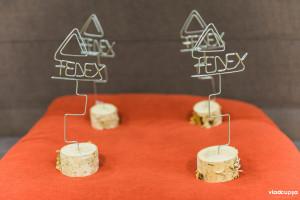 trofeu FEDEX | inaltime 25 cm | lemn de mesteacan & sarma galvanizata
