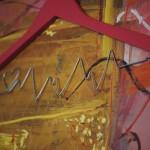 Puls, lemn, sârmă & acrilic, lungime 44 cm