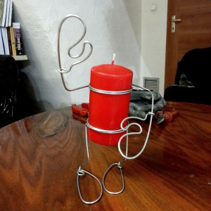 Candle Man, inaltime 25 cm