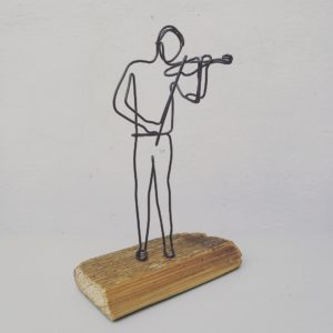 Violonist, inaltime 22 cm