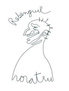 Modelat dupa desenul lui Horațiu Mălăele, carton panzat, sârmă & acrilic, 70 X 50 cm © Daria Maier