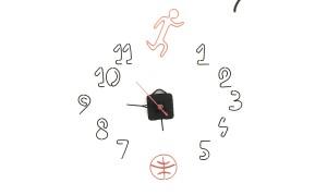 Ceas Minute de miscare, 50 X 50 cm